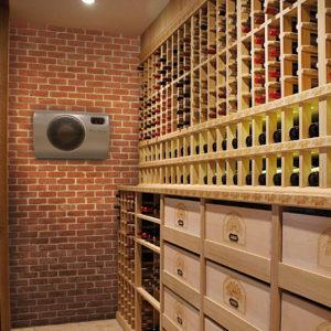 Klimatizace na víno, regály na víno, domácí vinotéky